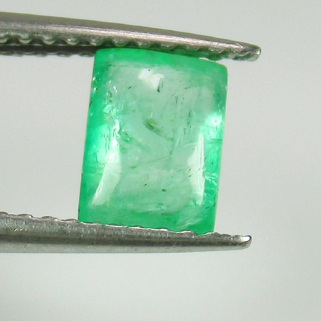 1.06 Ct Genuine Zambian Emerald Nice Rectangle Cabochon
