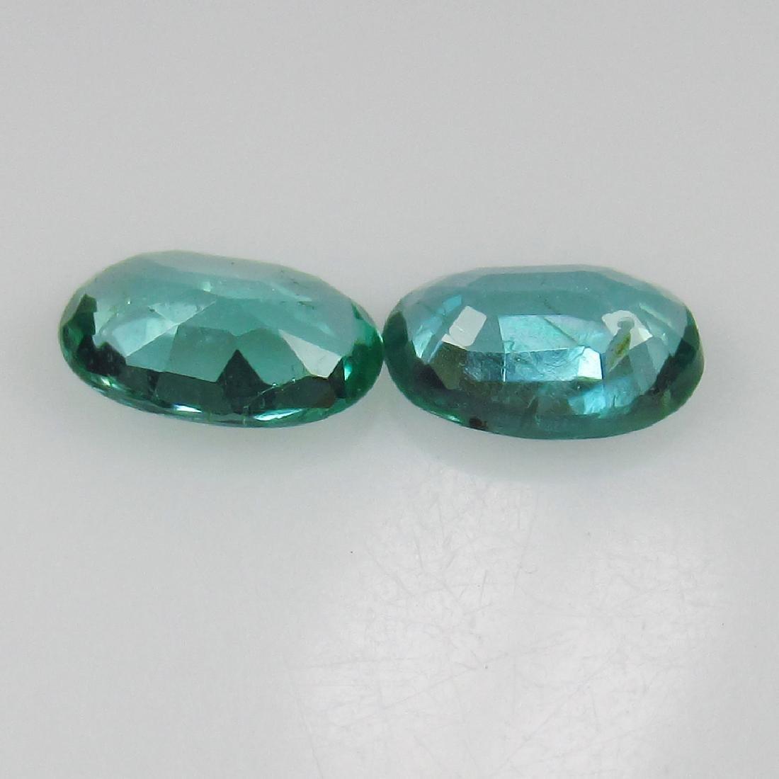 0.72 Ct Genuine Zambian Emerald 6X4 mm Matching Oval - 2