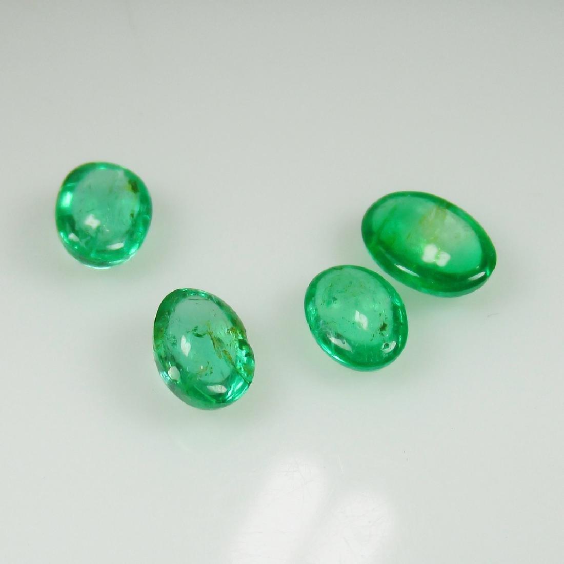 3.57 Ct Genuine 4 Loose Zambian Emerald Nice Oval