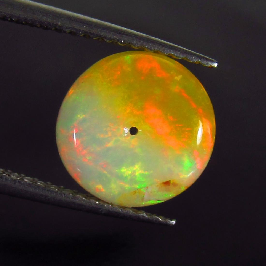 2.51 Ct Genuine Drilled Multi-Color Fire 9.5 mm Round - 2