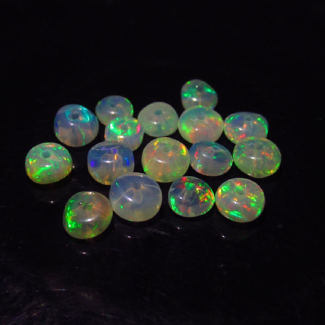 3.83 Ct Genuine 17 Loose Drilled Round Multi-Color Fire