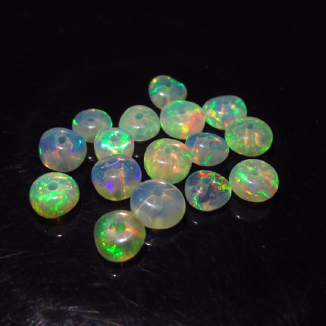 3.83 Ct Genuine 17 Loose Drilled Round Multi-Color Fire - 2
