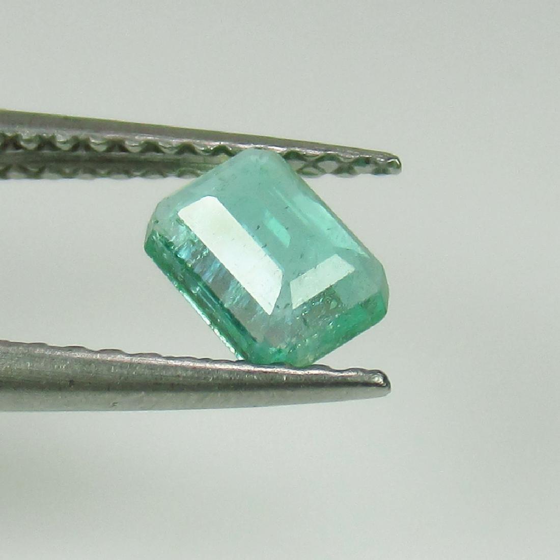 0.48 Ct Genuine Zambian Emerald 5.5X4 mm Octagon cut - 2