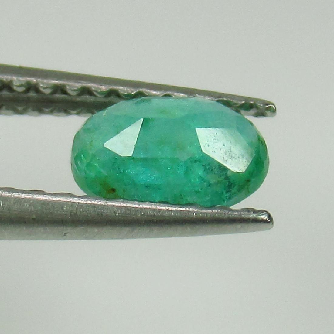 0.48 Ct Genuine Zambian Emerald Nice Oval Cut - 2