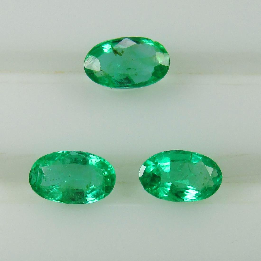 0.66 Ct Genuine Zambian Emerald Oval Cut