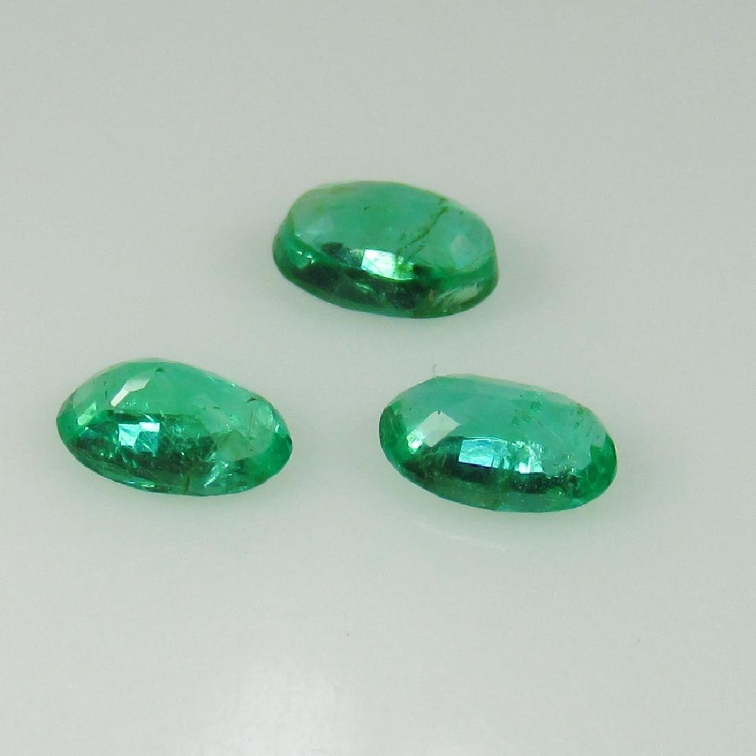 0.66 Ct Genuine Zambian Emerald Oval Cut - 2