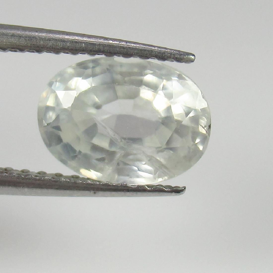 2.60 Ct Genuine Ceylon Unheated White Sapphire Nice