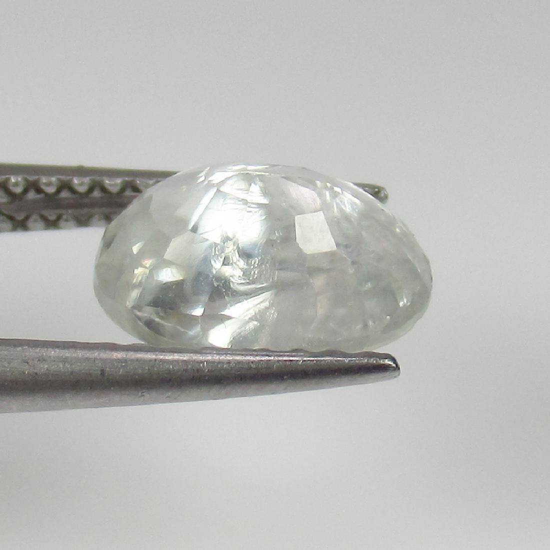 2.60 Ct Genuine Ceylon Unheated White Sapphire Nice - 2