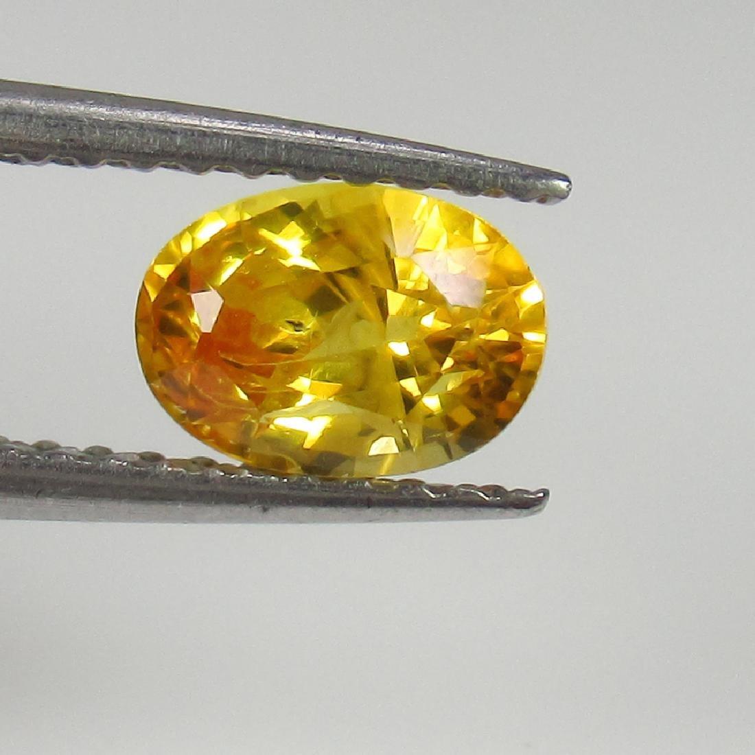 1.03 Ct Genuine Ceylon Yellow Sapphire Nice Oval Cut