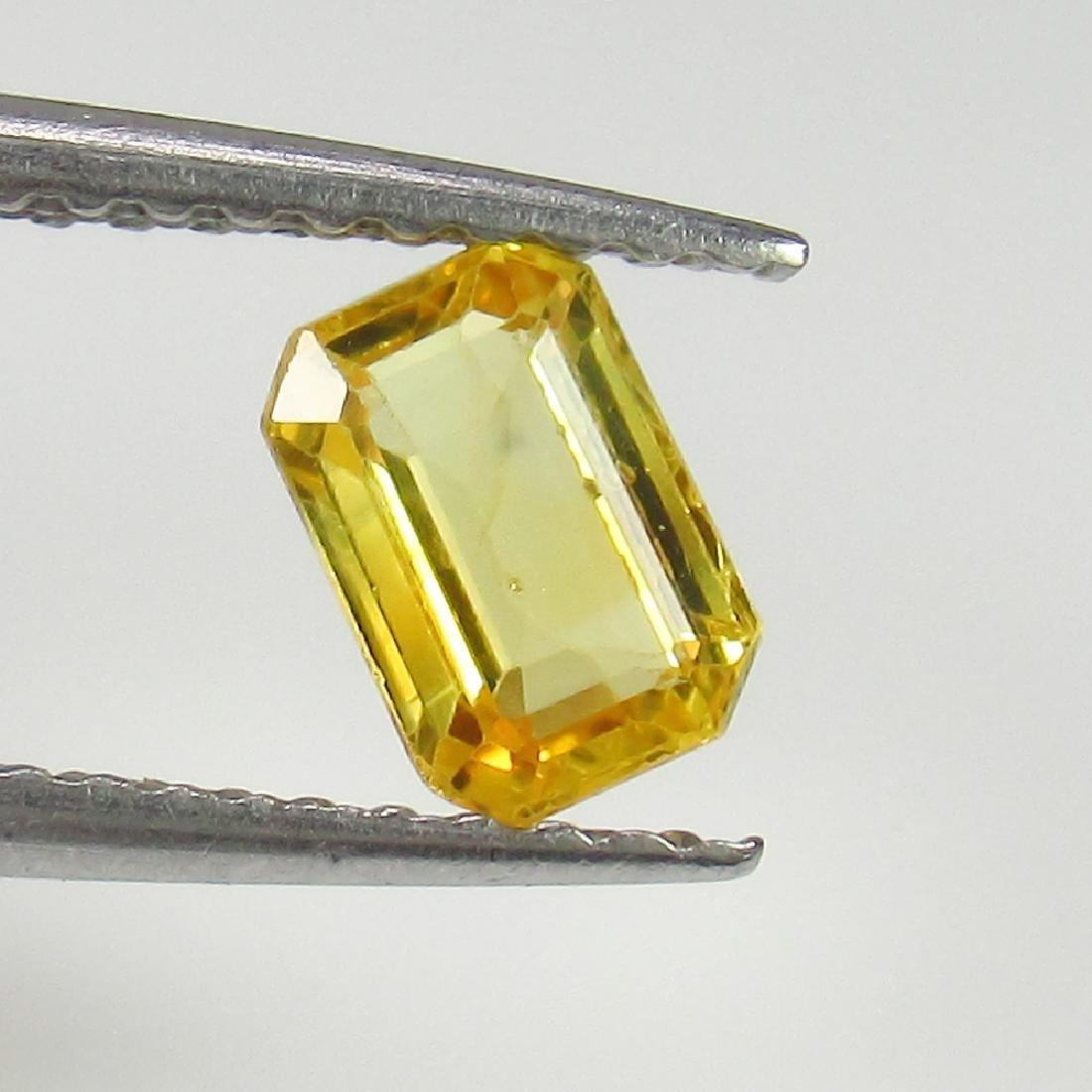0.68 Ct Genuine Ceylon Yellow Sapphire Excellent