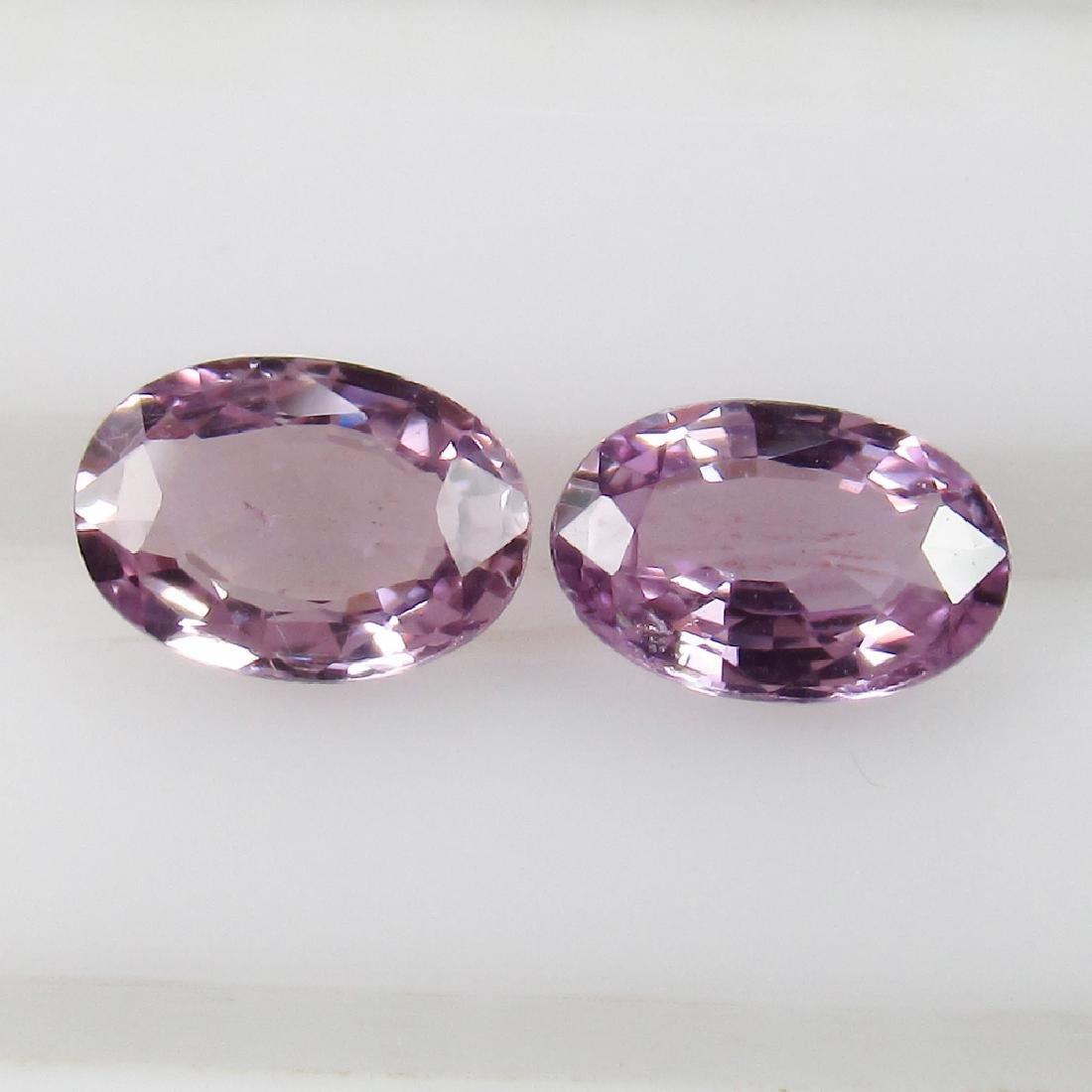 0.91 Ct Genuine Ceylon Violet Sapphire 6X4 mm Matching