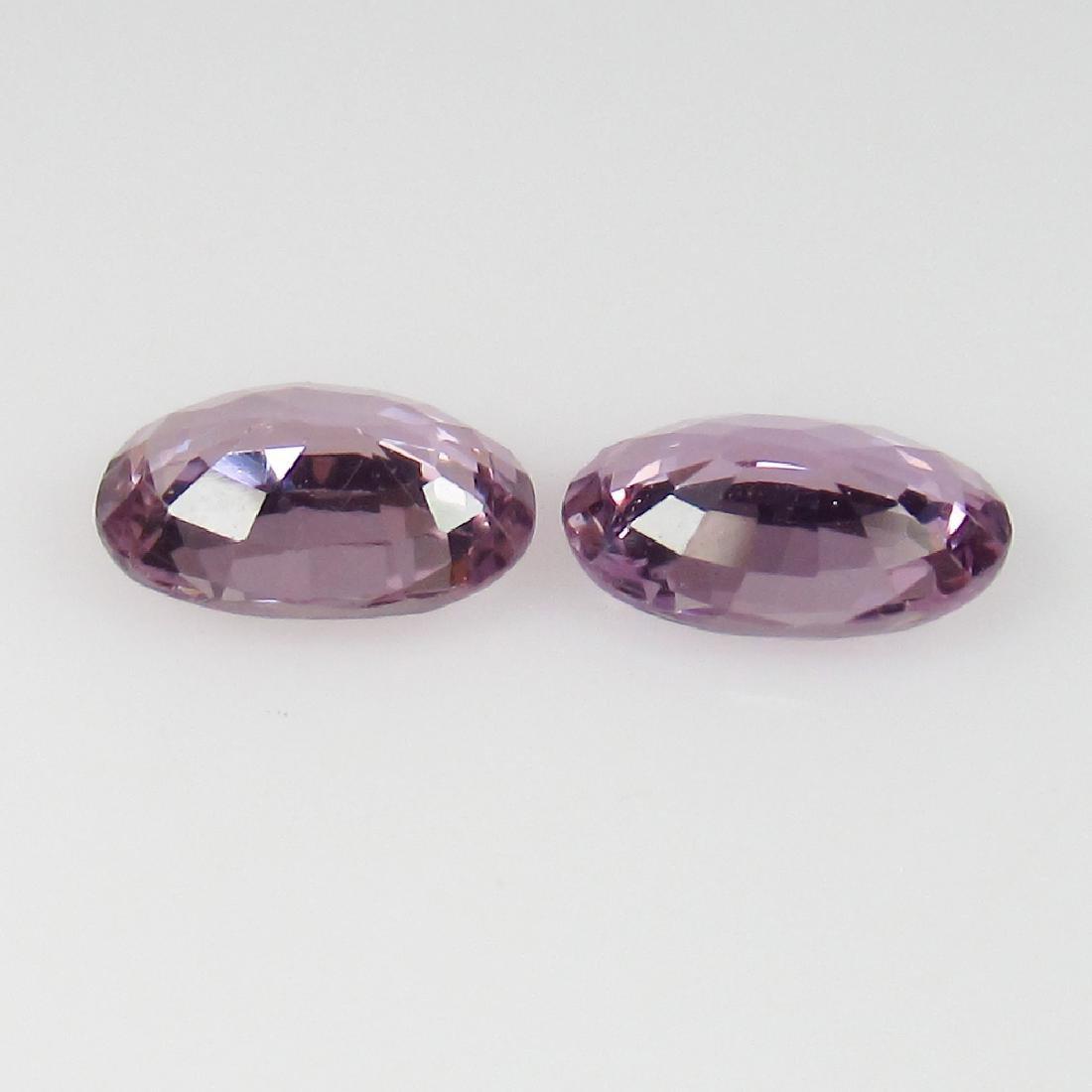 0.91 Ct Genuine Ceylon Violet Sapphire 6X4 mm Matching - 2