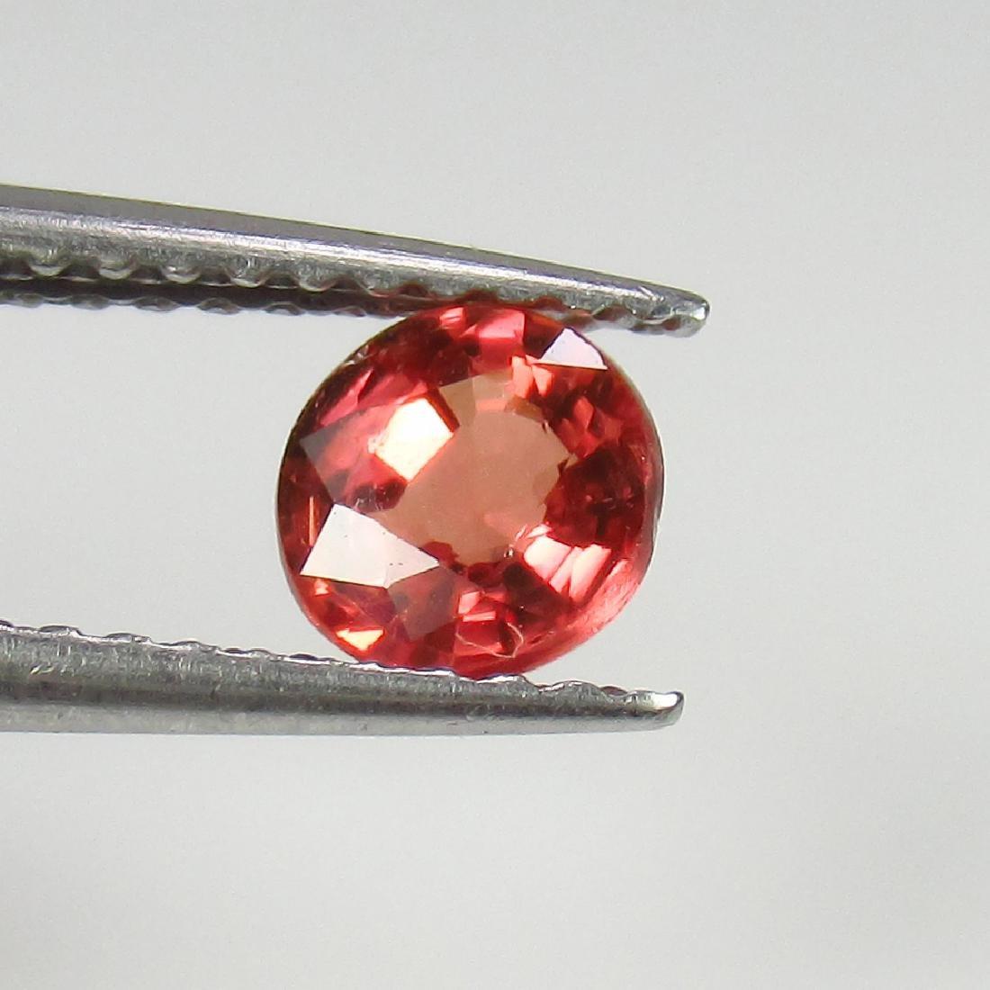 0.66 Ct Genuine Ceylon Orange Sapphire 5 mm Round Cut
