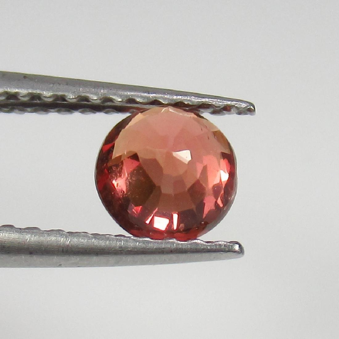 0.66 Ct Genuine Ceylon Orange Sapphire 5 mm Round Cut - 2