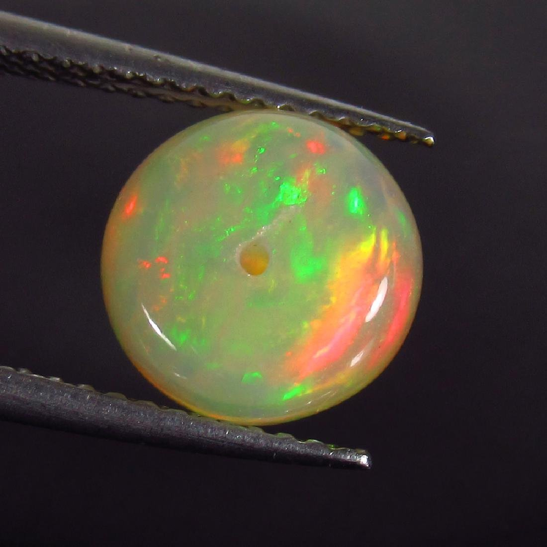 2.33 Ct Genuine Drilled Multi-Color Fire 9 mm Round - 2