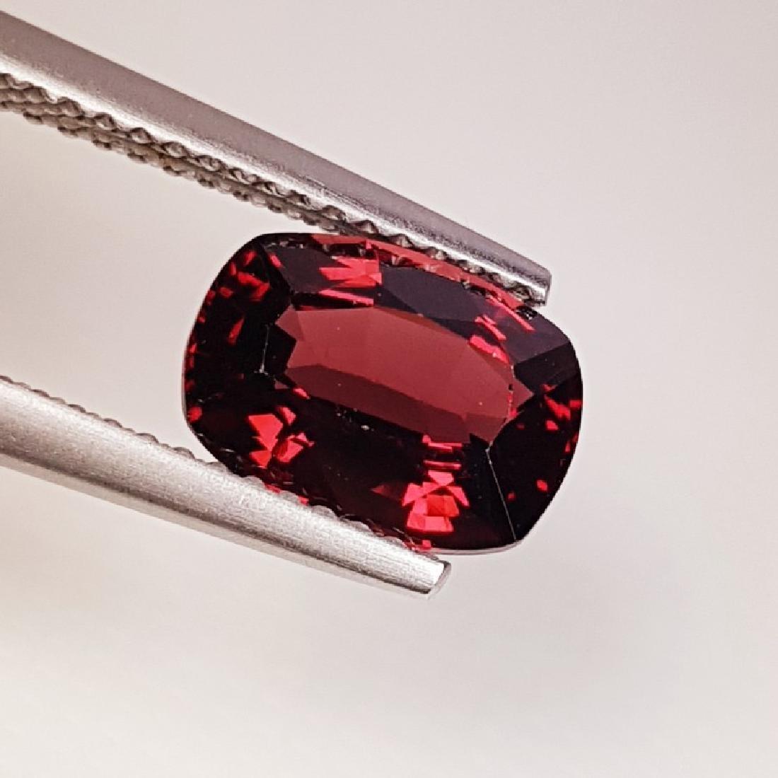 IGI CERTIFIED Natural Pyrope - Almandite Red Garnet - - 2