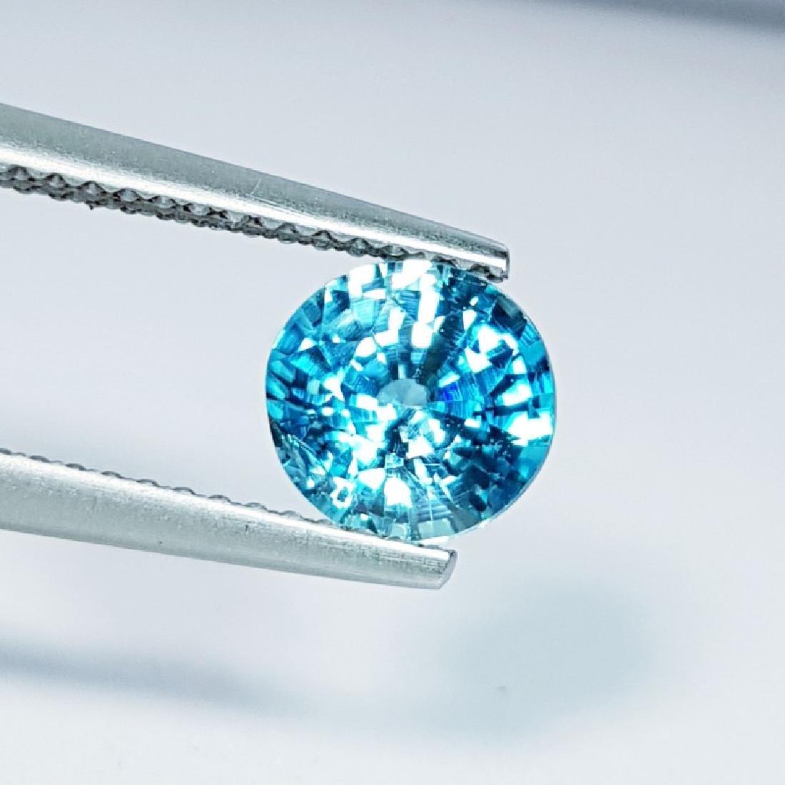 IGI CERTIFIED Natural Blue Zircon - 1.73 ct