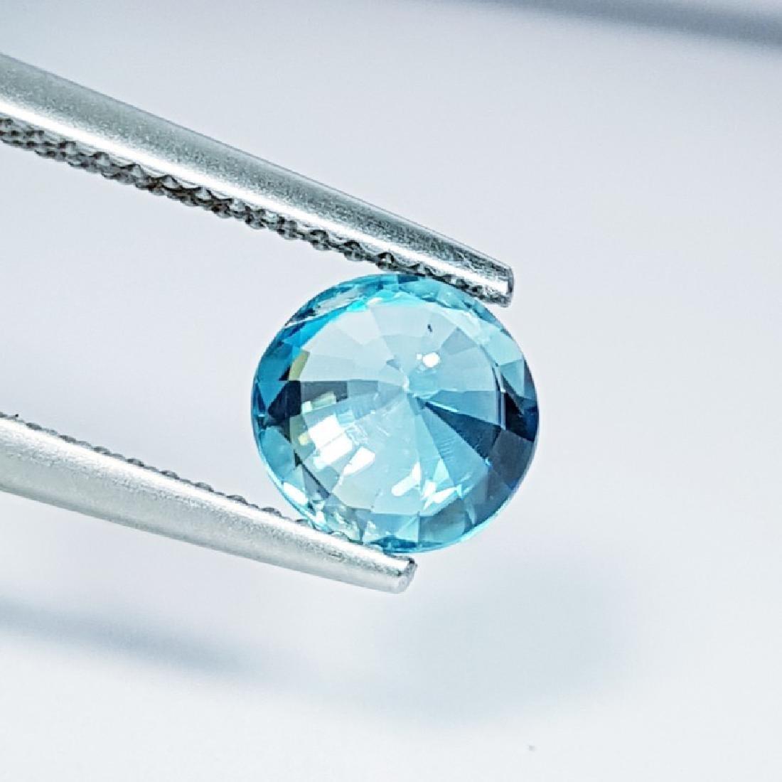 IGI CERTIFIED Natural Blue Zircon - 1.73 ct - 3