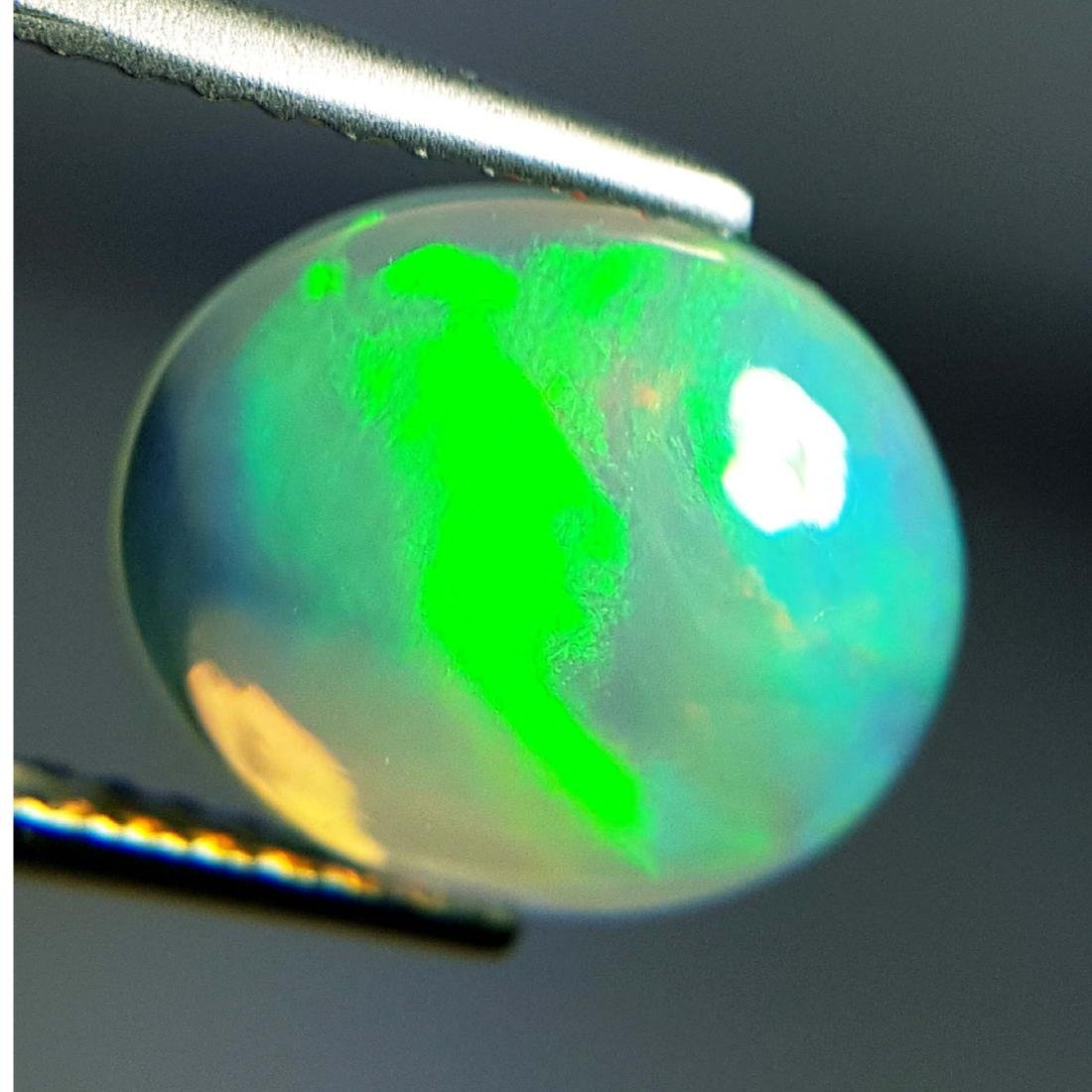 Top Fire Oval Cabochon Natural Opal  - 1.93 ct - 5