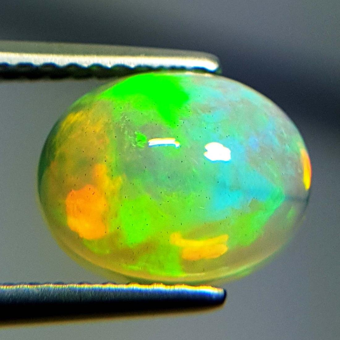 Awesome Fire Oval Cabochon Natural Opal  - 1.85 ct - 3