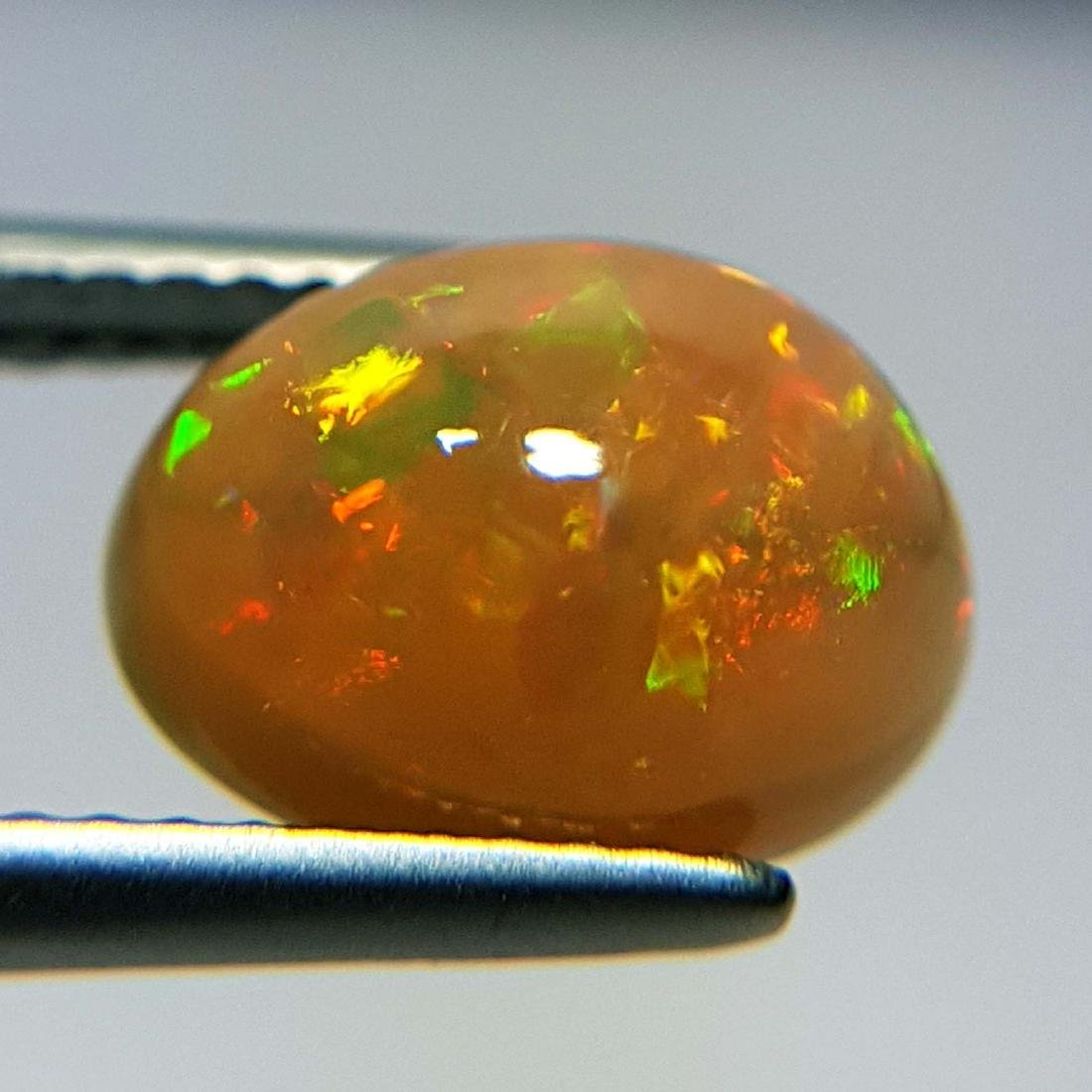 Galaxy  Fire Oval Cabochon Natural Opal  - 2.43 ct - 2