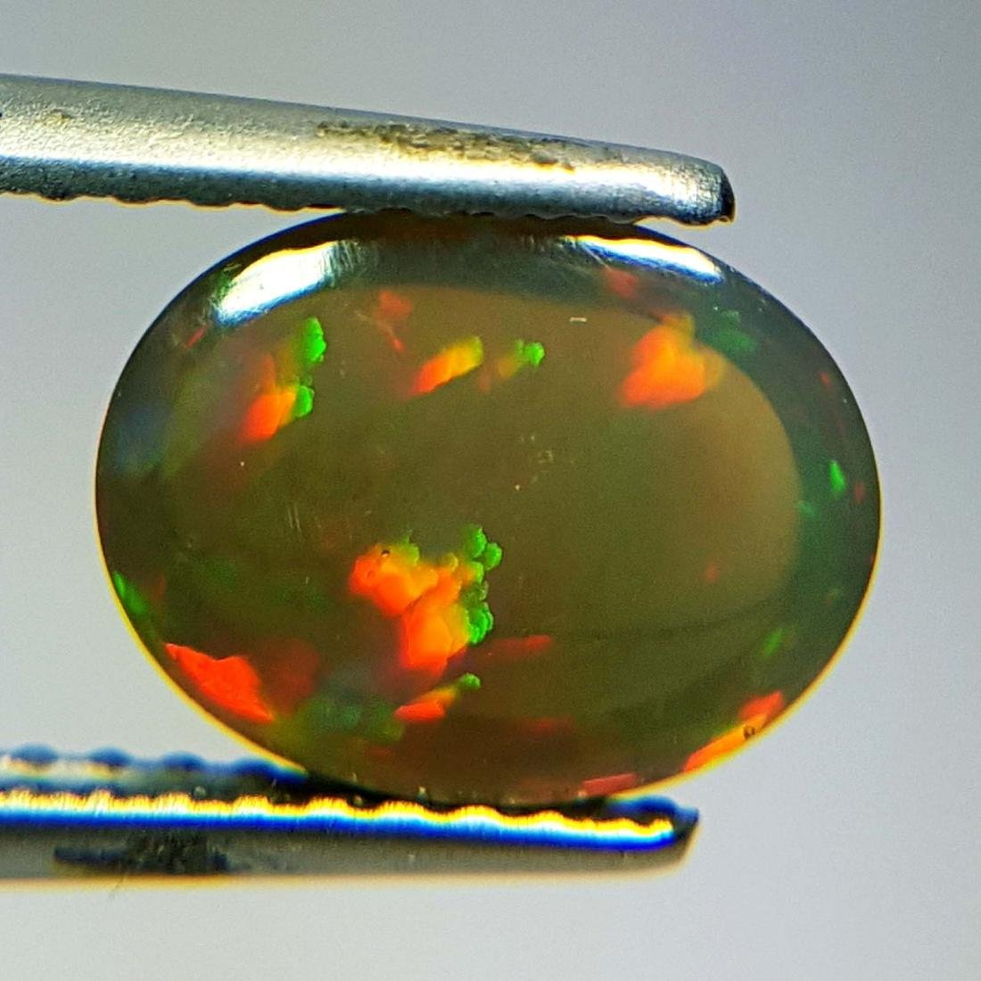 Marvelous Fire Oval Cabochon Natural Opal  - 1.43 ct - 10