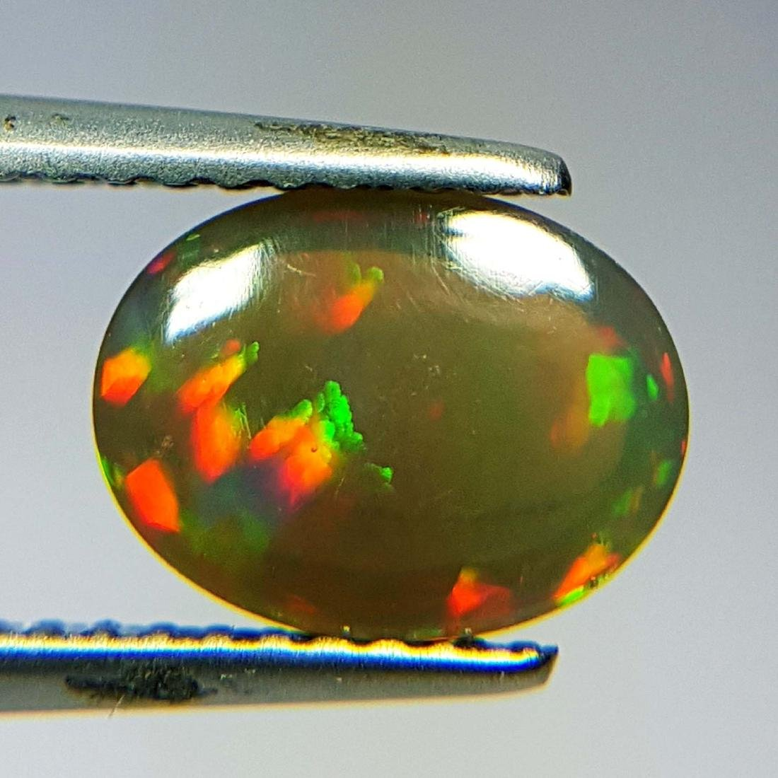 Marvelous Fire Oval Cabochon Natural Opal  - 1.43 ct - 9
