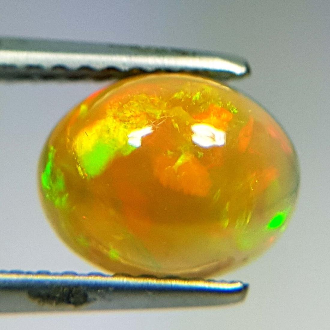 Excellent Fire Oval Cabochon Natural Opal  - 1.43 ct - 3