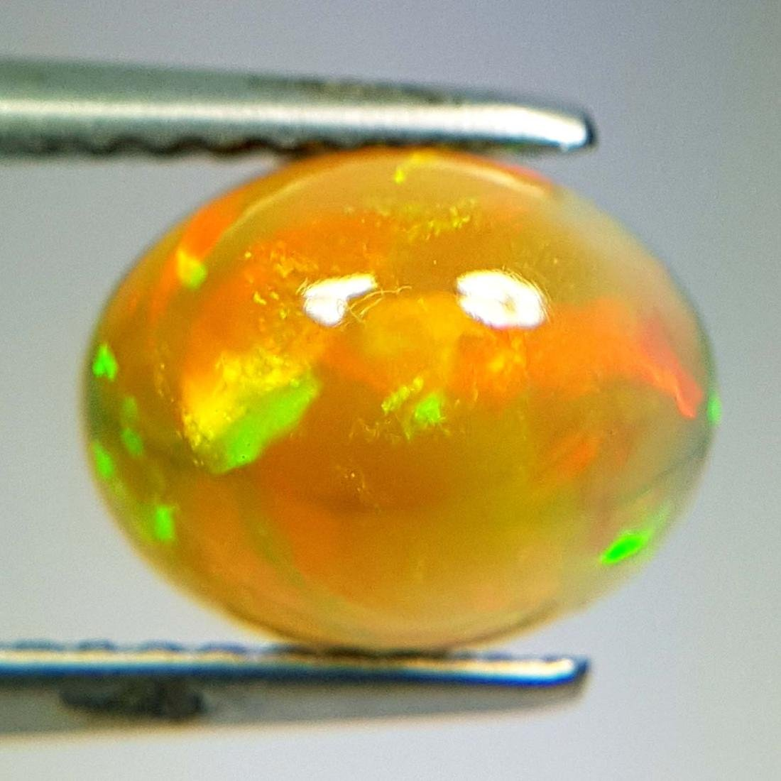 Excellent Fire Oval Cabochon Natural Opal  - 1.43 ct - 5