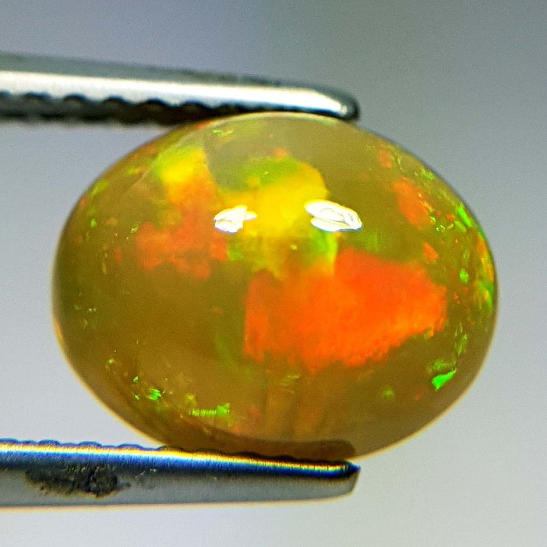 Awesome Fire Oval Cabochon Natural Opal  - 2.16 ct - 8