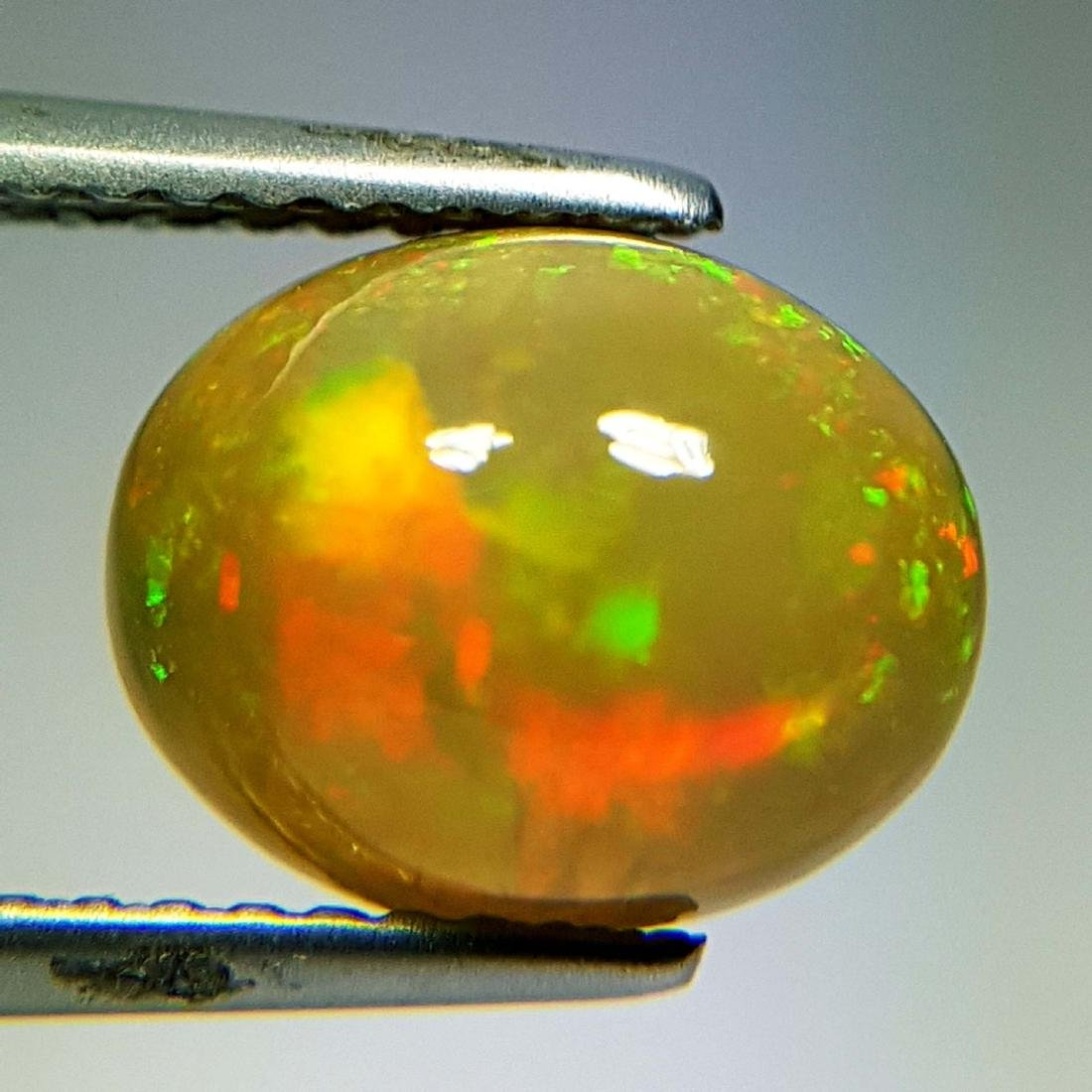 Awesome Fire Oval Cabochon Natural Opal  - 2.16 ct - 9