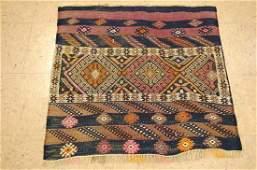 Antique Caucasian Shirvan Sumak Kilim Rug 27x27