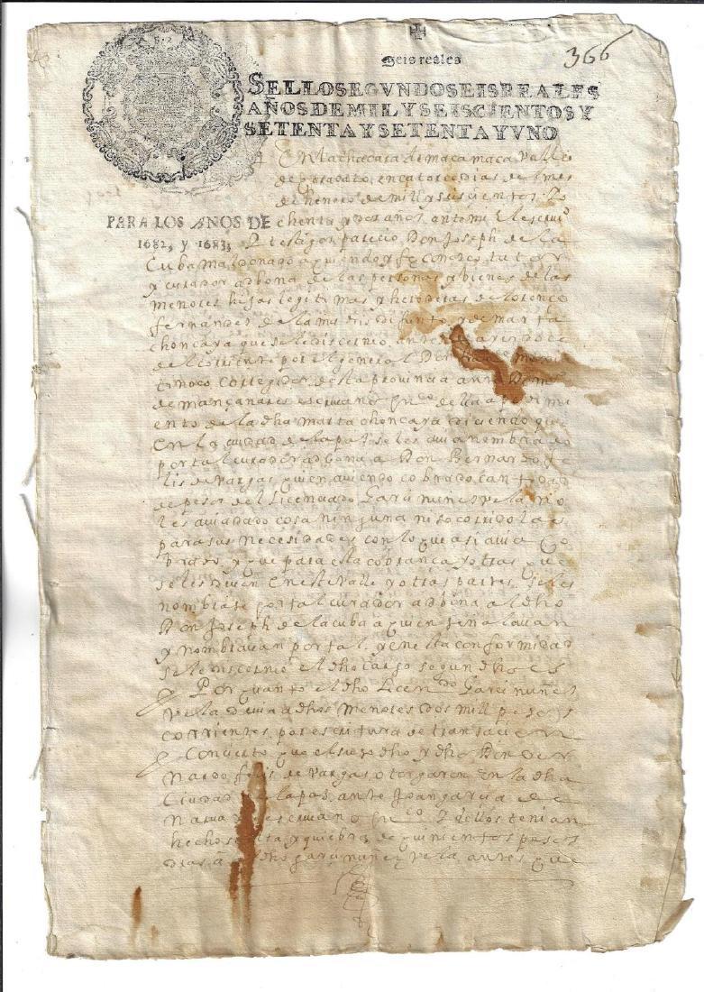 1683 Colonial Peru Manuscript Signatures