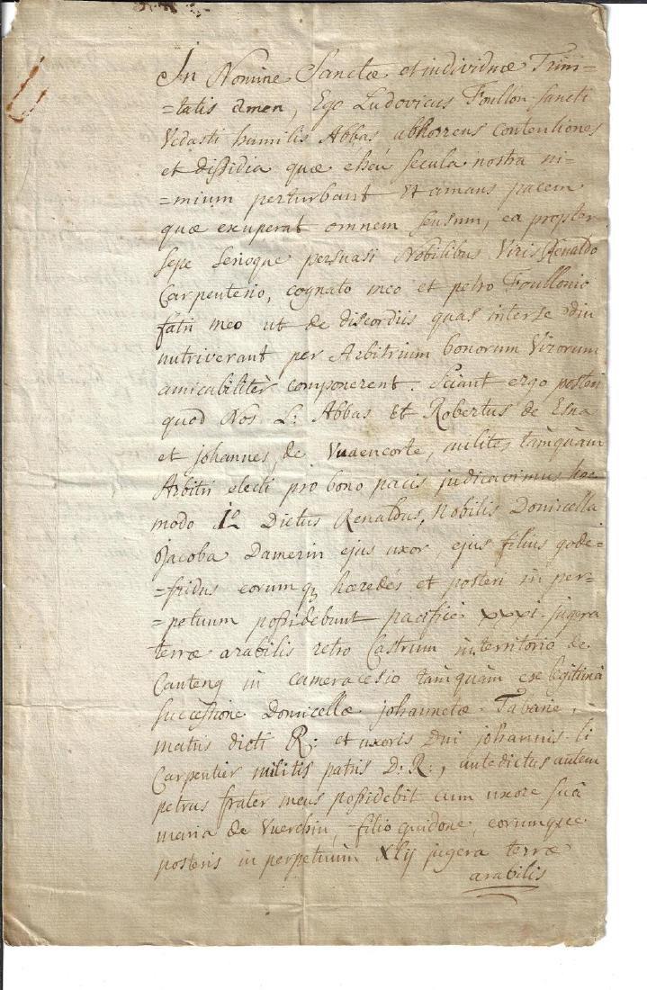 17th C Manuscript Copy of a Medieval Document