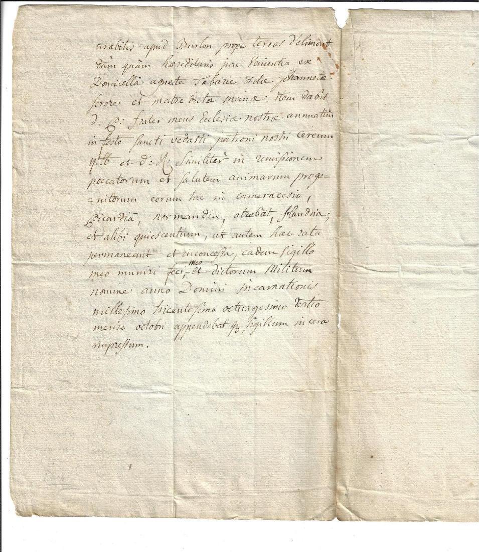17th C Manuscript Copy of a Medieval Document - 2