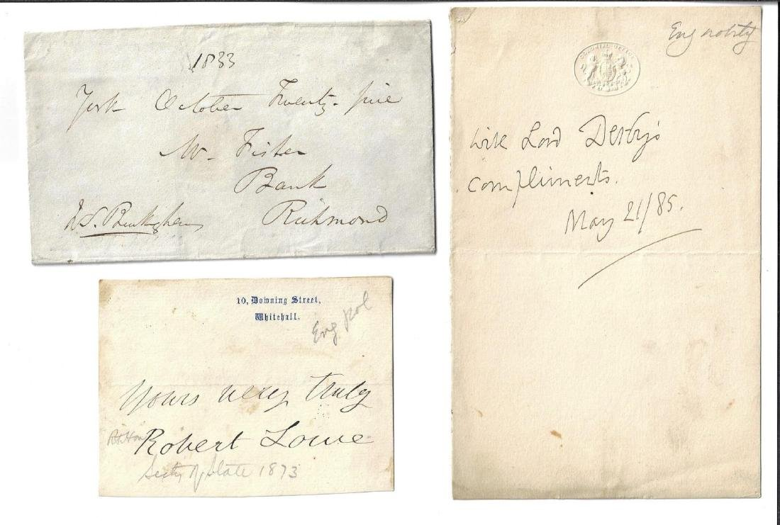 Lot of 19th C English Signed Items