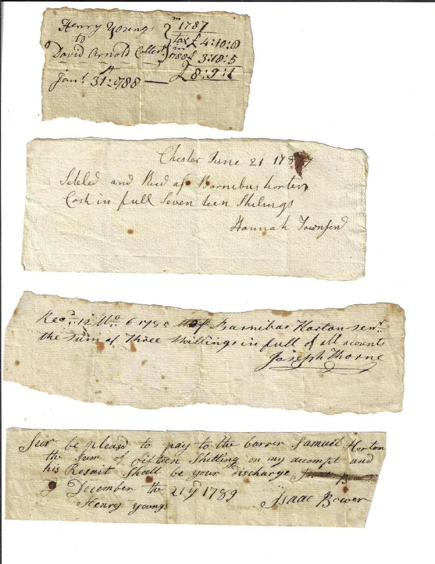 18th C Lot of Goshen New York Signed Receipts