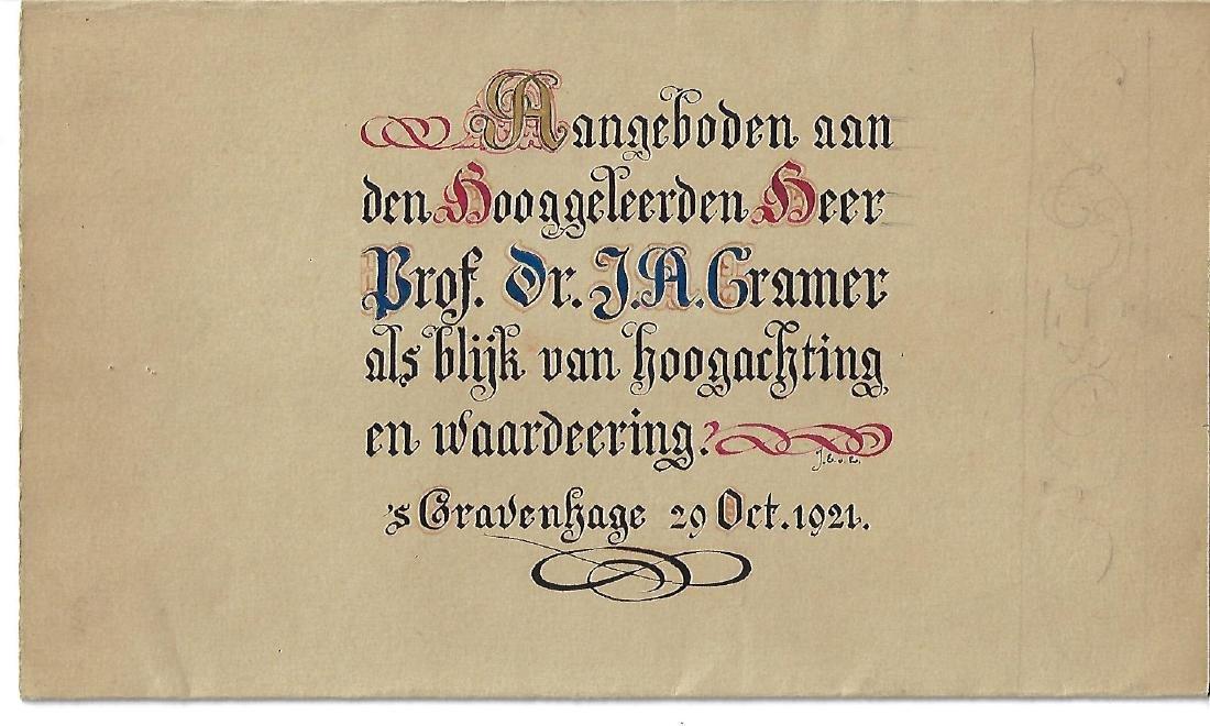 1921 Illuminated Manuscript Calligraphy