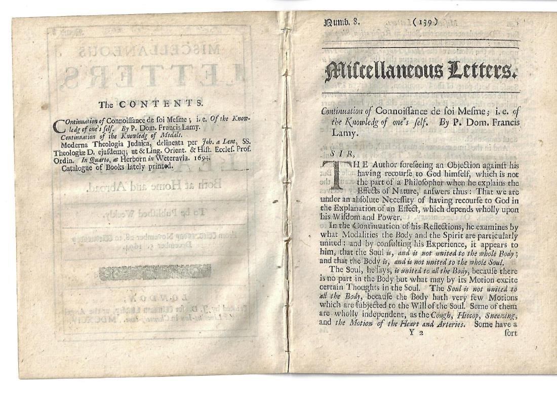 1694 English Printing Miscellaneous Letters - 2