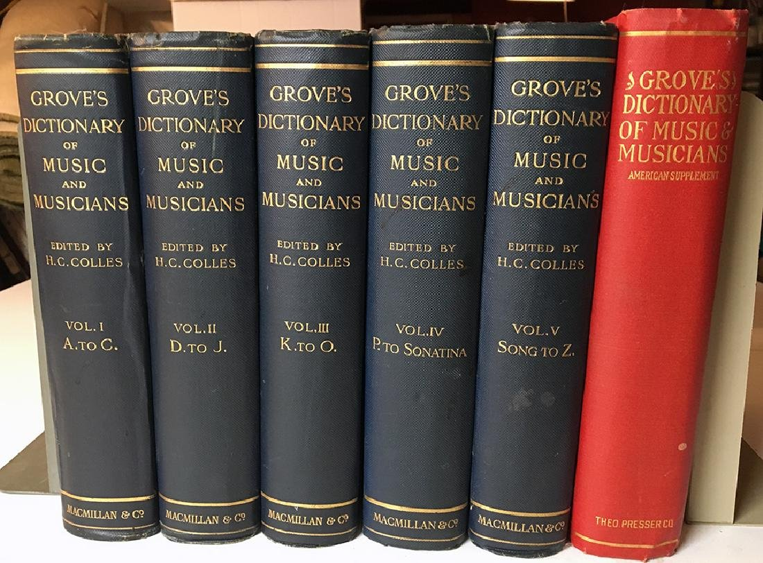 Grove's Dict. of Music & Musicians, 6-vols.