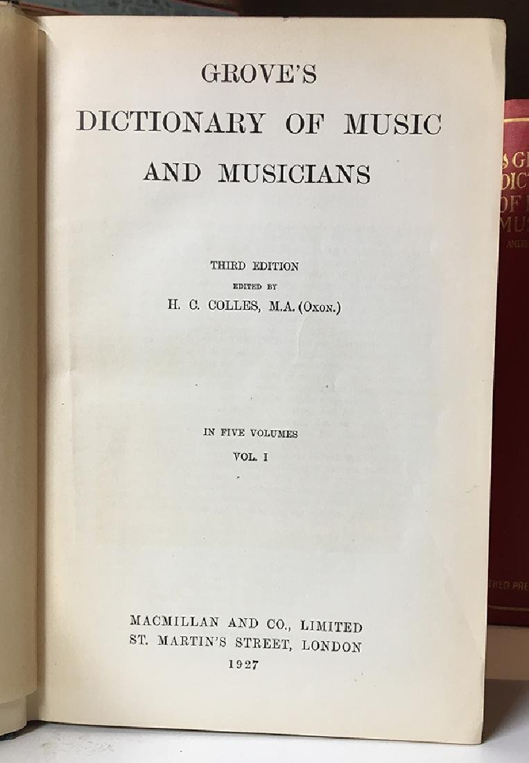 Grove's Dict. of Music & Musicians, 6-vols. - 3