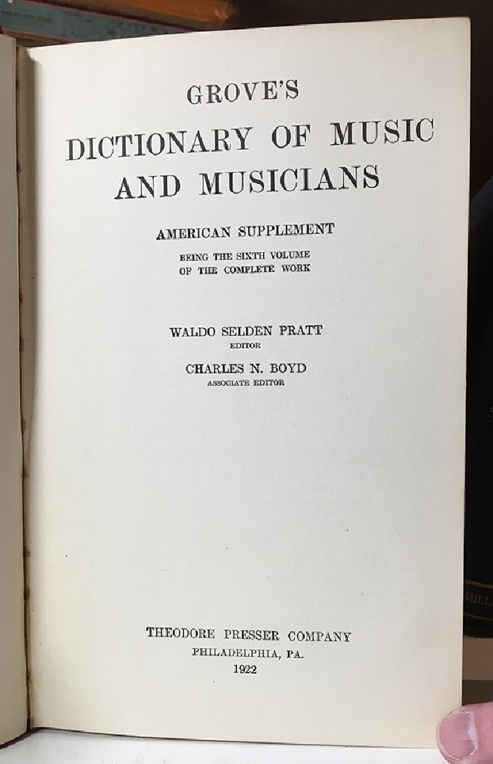 Grove's Dict. of Music & Musicians, 6-vols. - 4