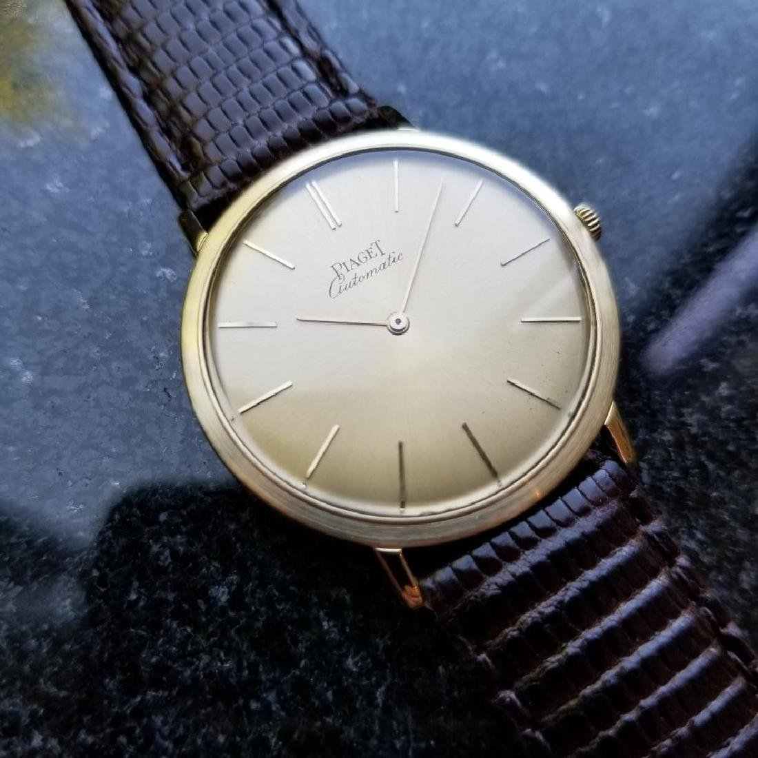 Piaget Vintage 18k Gold 1960s Automatic Swiss 32mm Mens