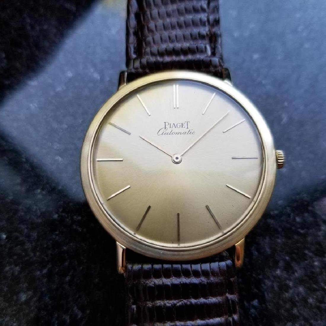 Piaget Vintage 18k Gold 1960s Automatic Swiss 32mm Mens - 2