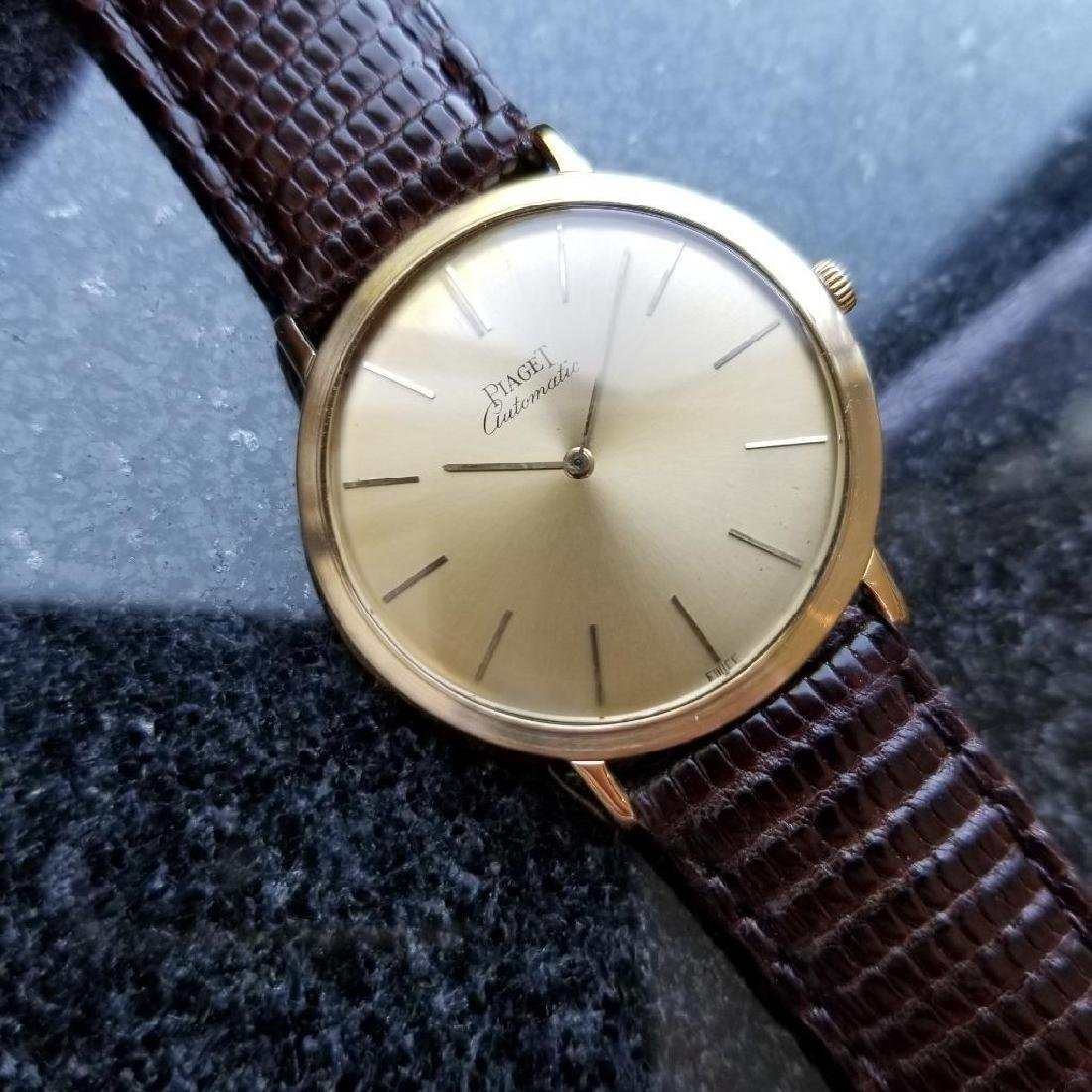 Piaget Vintage 18k Gold 1960s Automatic Swiss 32mm Mens - 3
