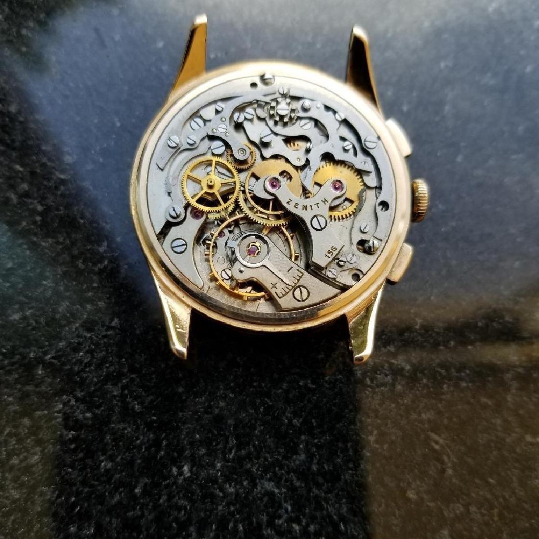 Zenith Vintage 18K Solid Rose Gold 1960s Swiss Watch - 10