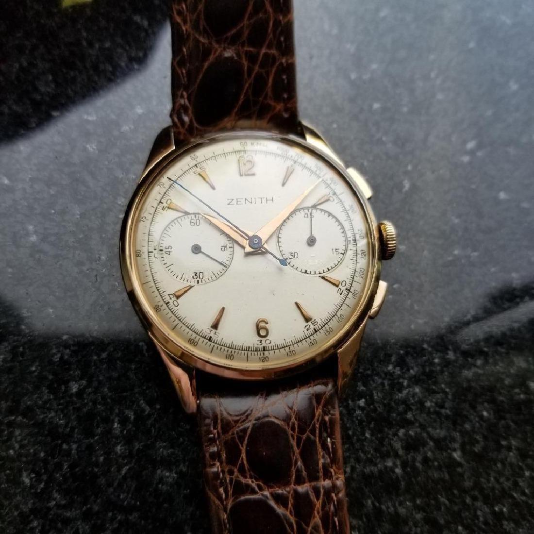 Zenith Vintage 18K Solid Rose Gold 1960s Swiss Watch - 2