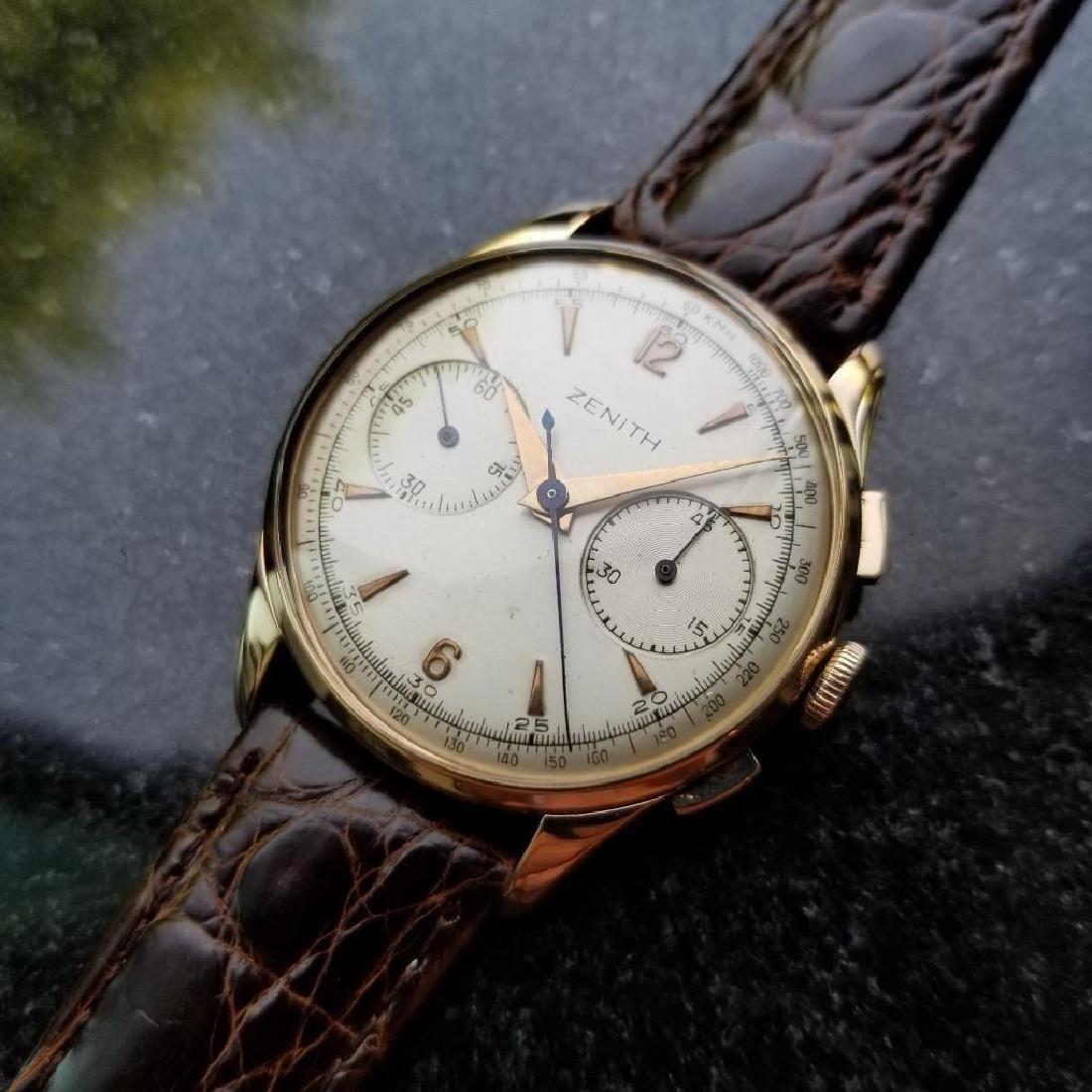 Zenith Vintage 18K Solid Rose Gold 1960s Swiss Watch - 4