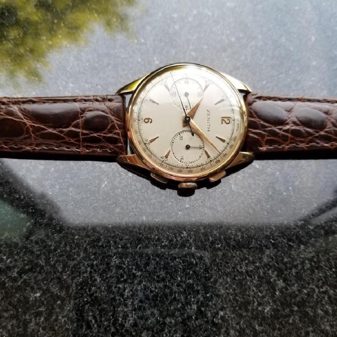 Zenith Vintage 18K Solid Rose Gold 1960s Swiss Watch - 5
