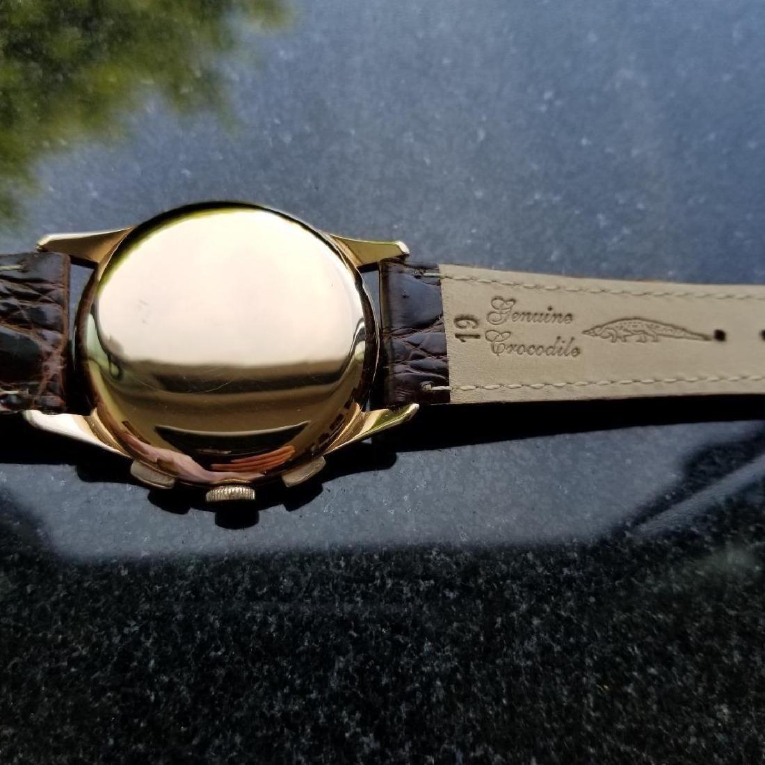 Zenith Vintage 18K Solid Rose Gold 1960s Swiss Watch - 7